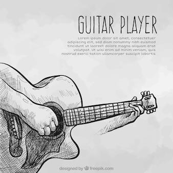 Fondo de bosquejo de guitarrra