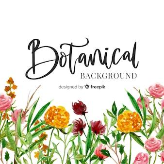 Fondo botánico en acuarela