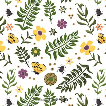 Fondo botánico dibujado a mano