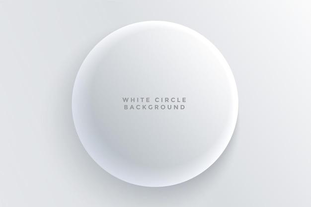 Fondo de botón 3d circular blanco realista