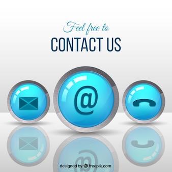 Fondo de botones de contacto