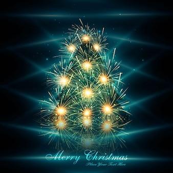 Fondo brillante del árbol de navidad