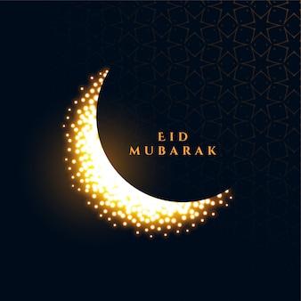 Fondo brillante brillante luna eid