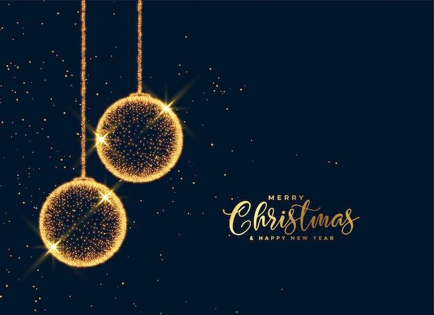 Fondo brillante de brillantes bolas de partículas de navidad