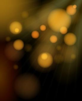 Fondo brillante de burbujas doradas borrosas