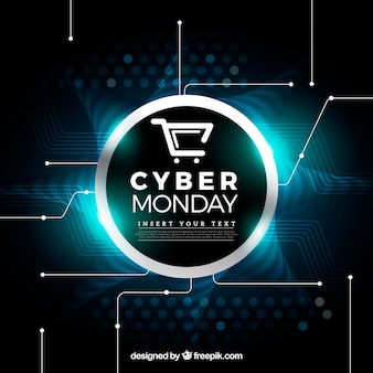 Fondo brillante de cyber monday