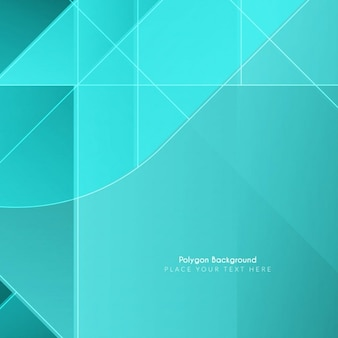 Fondo brillante de formas poligonales de color celeste
