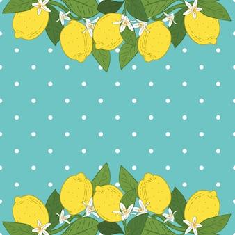 Fondo brillante de frutas cítricas de limón tropical
