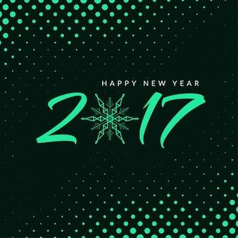 Fondo brillante de medios tonos de año nuevo 2017