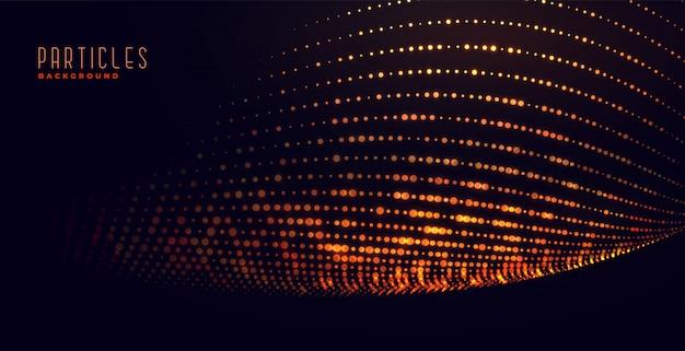 Fondo brillante de partículas de brillo