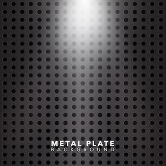 Fondo brillante de la placa de metal