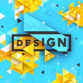 Fondo brillante con textura triangular geométrica vectorial abstracta para negocios, impresión, web, interfaz de usuario y otros Vector Premium