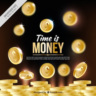 Fondo de brillantes monedas