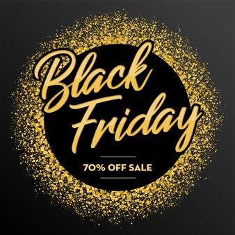 Fondo de brillo dorado de venta de viernes negro