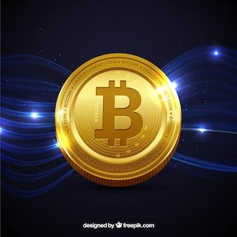 Fondo brilloso de bitcoin
