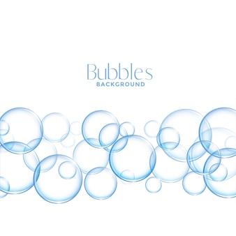 Fondo de burbujas de jabón o agua brillante