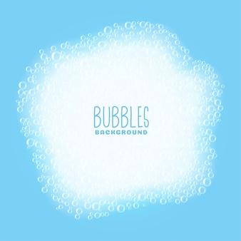 Fondo de burbujas de jabón o champú
