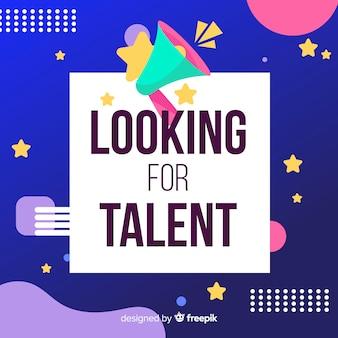Fondo buscando talento megáfono