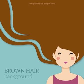 Fondo, cabello marrón