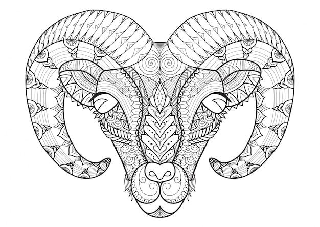 Fondo de cabra dibujado a mano