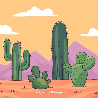 Fondo cactus desierto