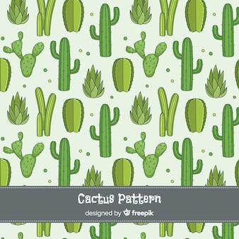 Fondo cactus dibujado a mano