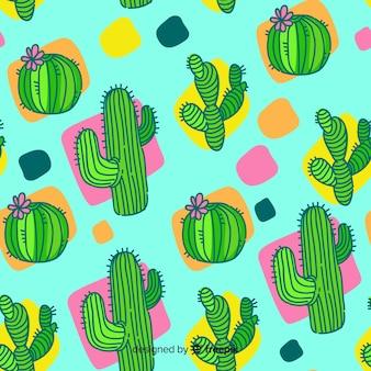 Fondo cactus dibujos animados