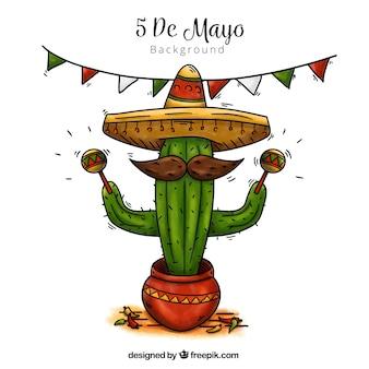 Fondo de cactus mexicano