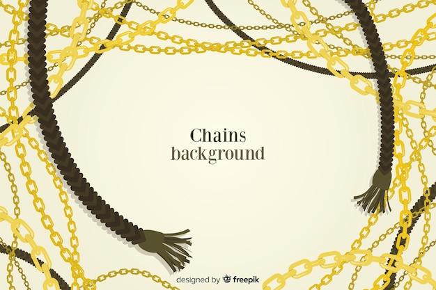 Fondo con cadenas