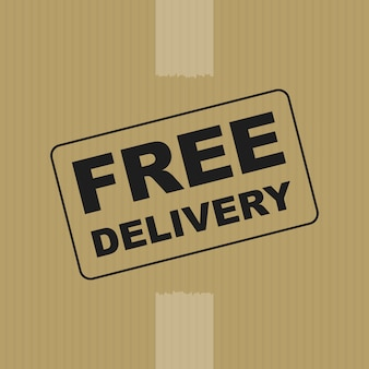 Fondo de caja de entrega gratuita