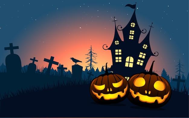 Fondo de calabazas de halloween.