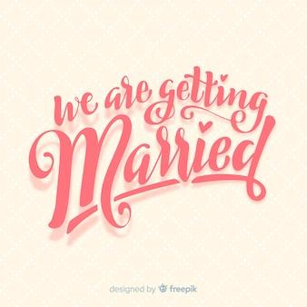 Fondo caligráfico de boda