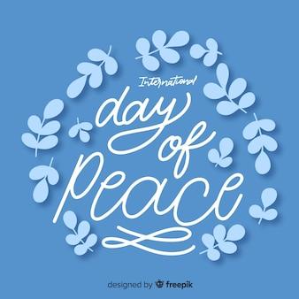 Fondo caligráfico del día internacional de la paz
