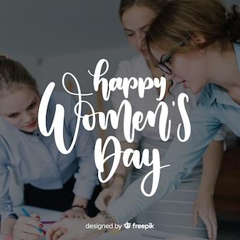 Fondo caligráfico del día de la mujer