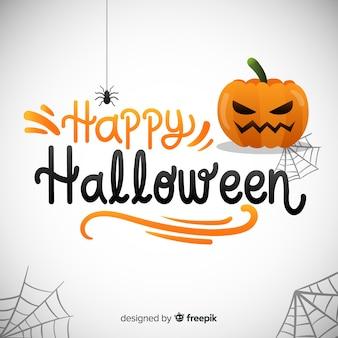 Fondo caligráfico de feliz halloween