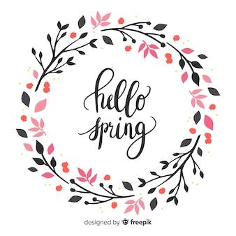 Fondo caligráfico de primavera