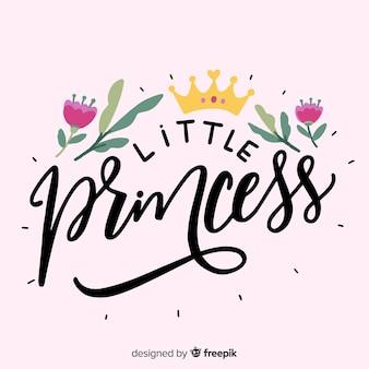 Fondo caligráfico rosa de princesa