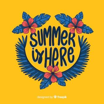 Fondo caligráfico de verano colorido