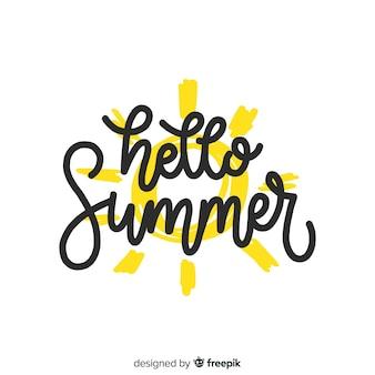 Fondo caligráfico de verano