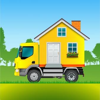 Fondo de camión de mudanzas