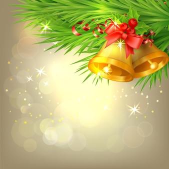 Fondo con campanas de navidad