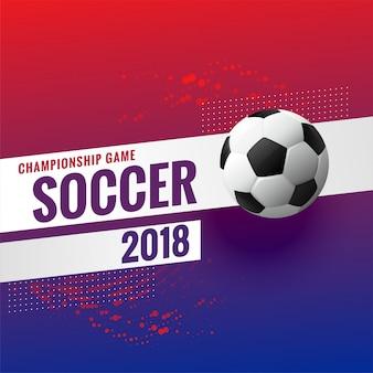 Fondo del campeonato del torneo de fútbol 2018