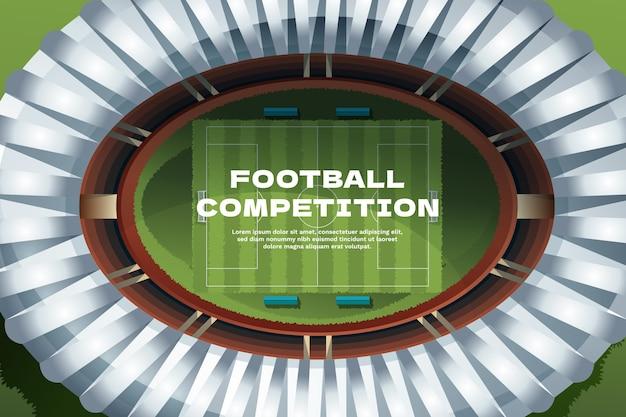 Fondo de campo de fútbol degradado de vista superior
