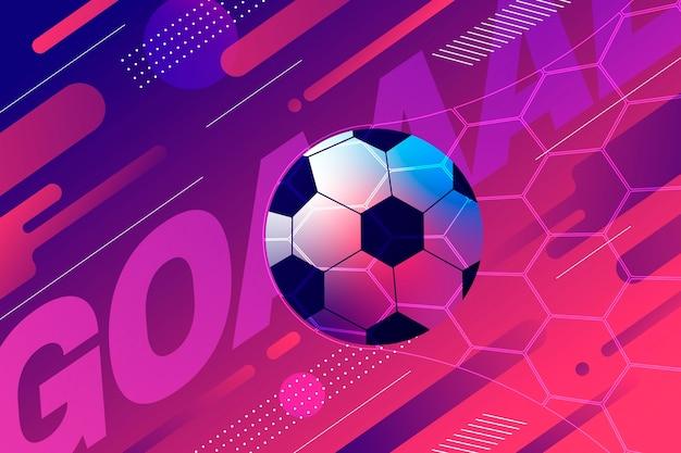 Fondo de campo de fútbol degradado