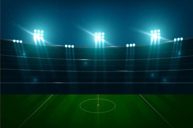 Fondo de campo de fútbol realista