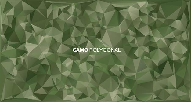 Fondo de camuflaje militar abstracto hecho de camuflaje de formas de triángulos geométricos