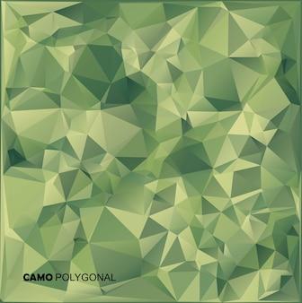 Fondo de camuflaje militar abstracto hecho de formas geométricas de triángulos.