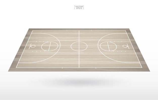 Fondo de la cancha de baloncesto. campo de baloncesto. ilustración vectorial.