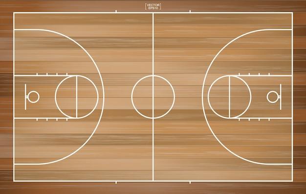 Fondo de la cancha de baloncesto. campo de baloncesto