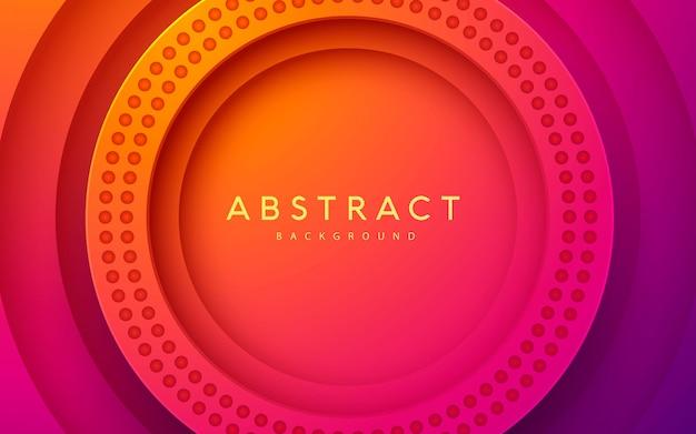 Fondo de capa de corte de papel de círculo 3d abstracto